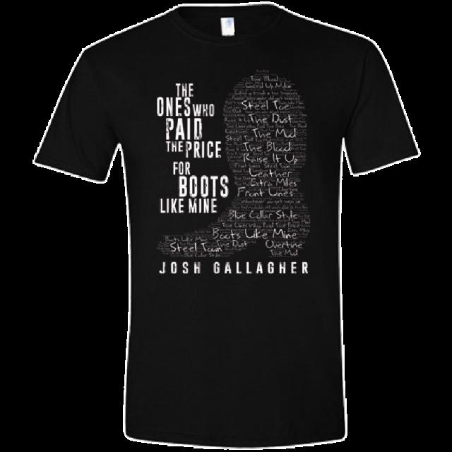 Josh Gallagher Black Boots Like Mine Tee